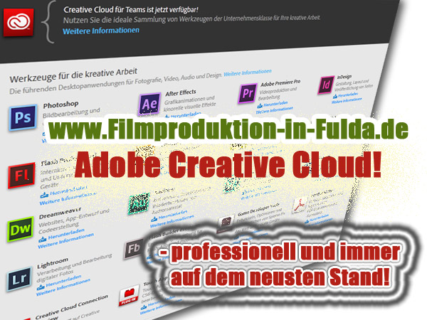 Adobe Cloud - Filmproduktion in Fulda